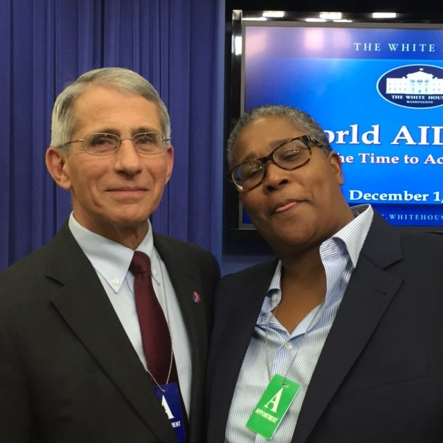 Toni Dr Anthony Fauci Rotated, Community Education Group